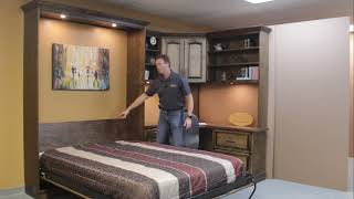 Bullock Murphy bed with Raised Panel Front