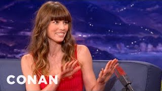 Jessica Biel Was A Serial Barbie Decapitator  - CONAN on TBS