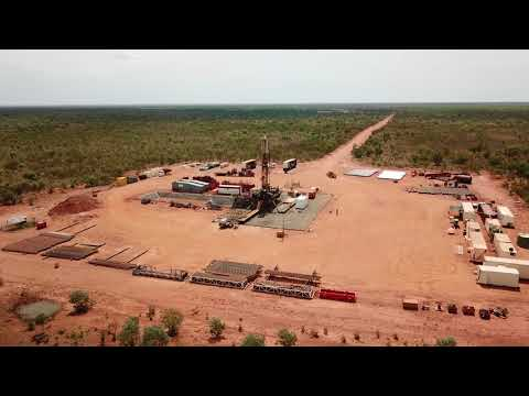 Aerial View of the DDGT1 Drilling Operations at Ungani 5