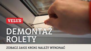 Demontaż rolety VELUX - dowiedz się jak to zrobić