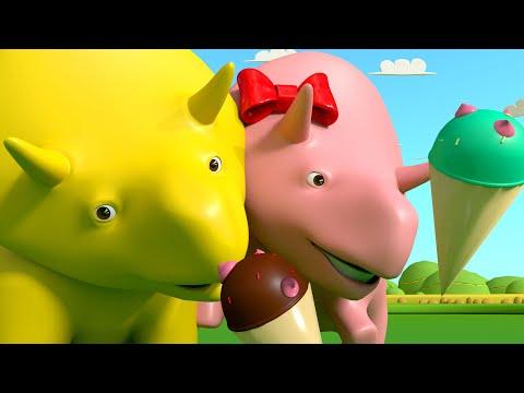 Учим цифры вместе с мороженым - Динозаврик Дино ???? Обучающий мультфильм для детей