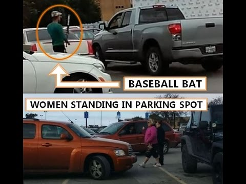 PARKING SPOT WARS - DRIVERS VS SPOT SAVERS (WATCH UNTIL THE END - CRAZY GUY WITH BAT)