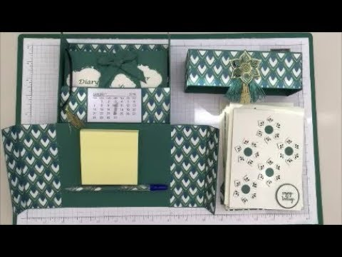 Stationary Gift Box Tutorial Cards, Envelopes, Diary, Notepad and Post-it  Set Stampin Up