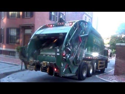 Sunrise Scavenger J0614135~ Mack LEU McNeilus Rear Loader on Boston  Recycle