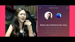 Baby Shima - Takkan Pisah (video karaoke duet bareng artis) smule cover Baby Shima