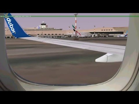 [FSX] flydubai landing at Kuwait International Airport