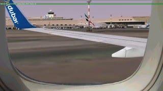 [FSX] flydubai landing at Kuwait International Airport