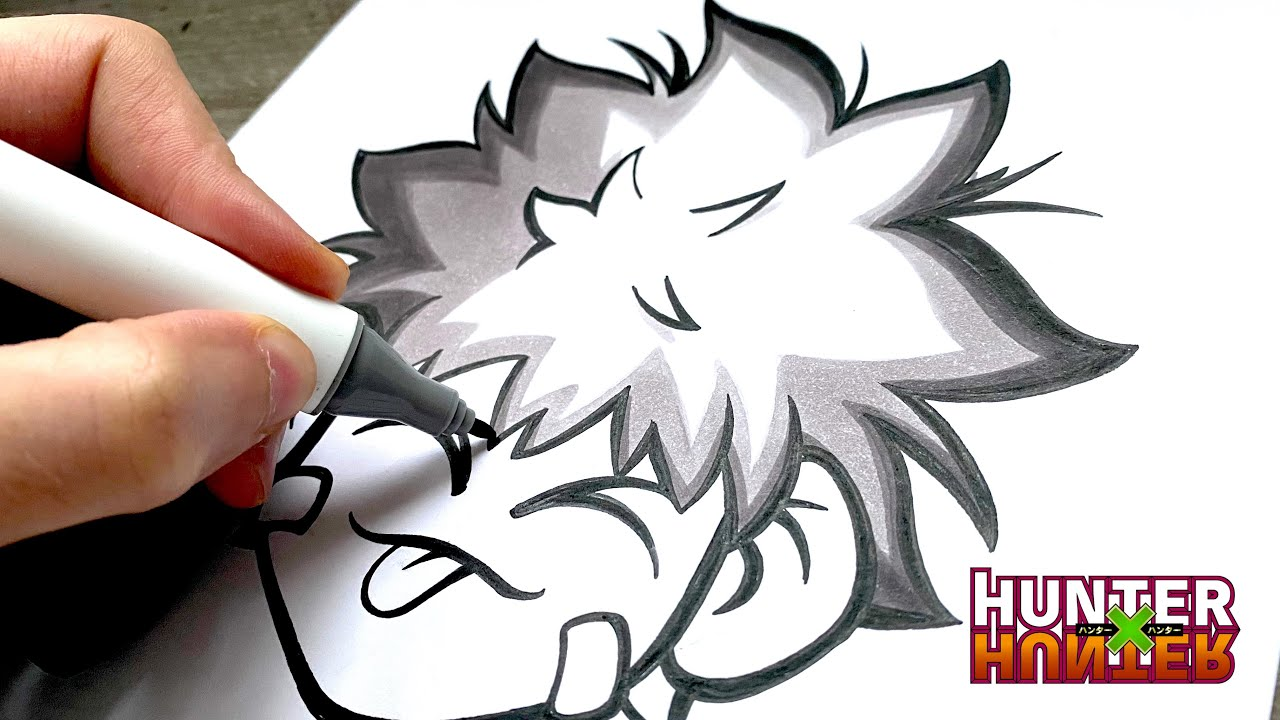 Comment Dessiner et Colorier les Cheveux Manga Façon Hunter x Hunter