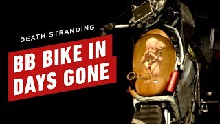 Death Stranding's BB on a Bike in Days Gone