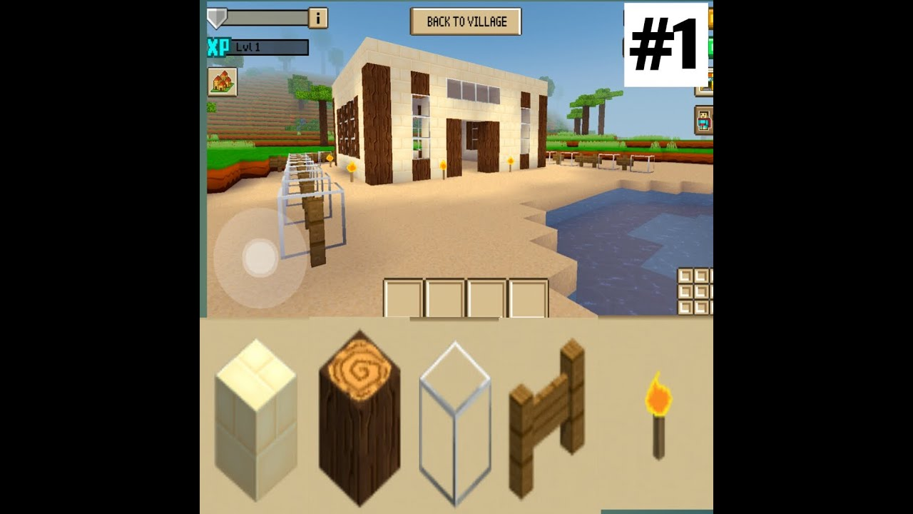 How To Build A House With 5 Objects Part 1 Block Craft 3d