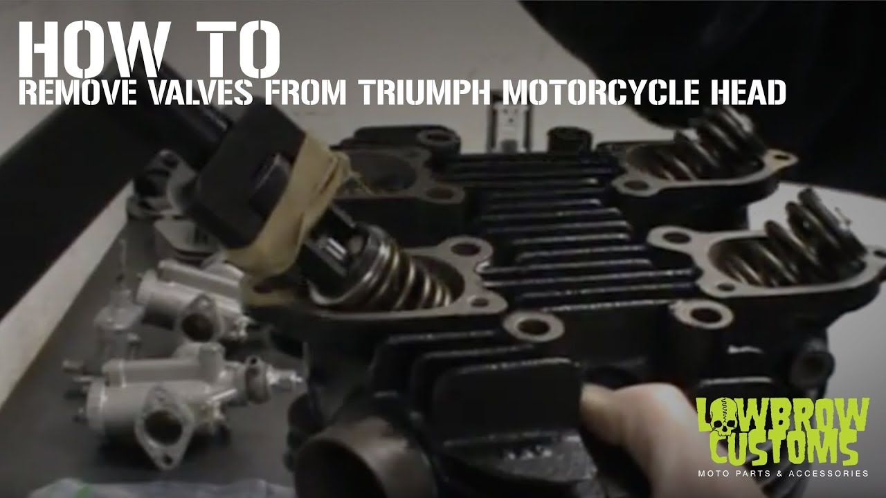 DIY Tech Tip Removing Valves from a Triumph Motorcycle Head