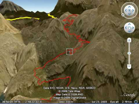 Mallorca Coast to Coast Bike Route including  Sa Calobra 3D Fly Through Google Earth