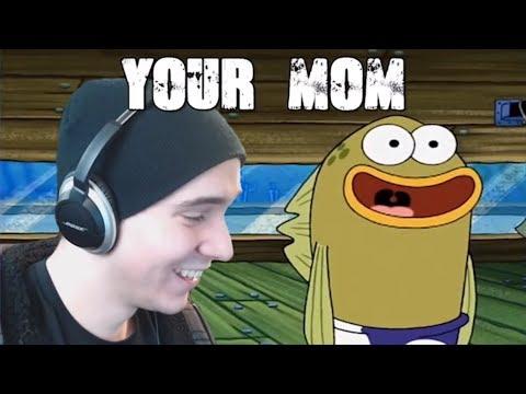 YOUR MOM! - Reacting to YTP: Mr Krubby Krabby Avenges Pearl Harbor [REUPLOAD]