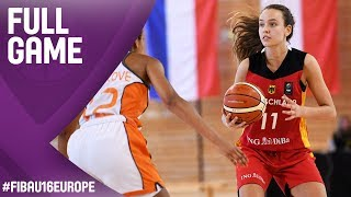Netherlands v Germany - Full Game - FIBA U16 Women's European Championship 2017 thumbnail