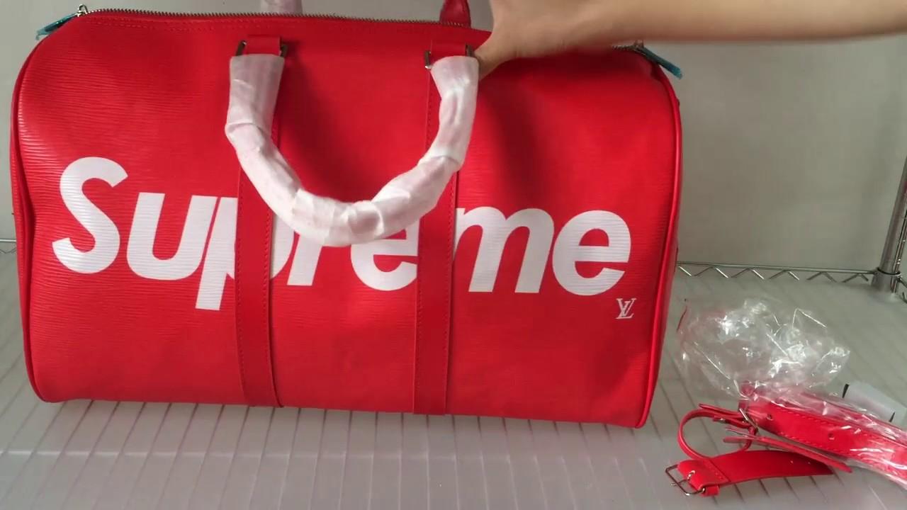 e6e58880bf82 Supreme X Louis Vuitton Duffle Bag For Sale