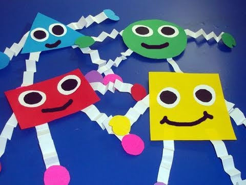How to make geometric shapes for wall decoration ep for Actividades para el salon de clases