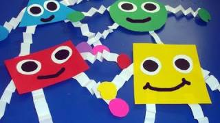 How to make geometric shapes for wall decoration - EP - simplekidscrafts - simplekidscrafts