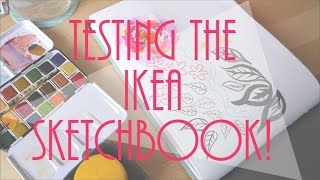 IKEA SKETCHBOOK: Is it any good? Review of Ikea art supplies