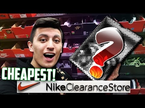 ARE THESE THE CHEAPEST NIKE OUTLET SNEAKERS EVER!? (Nike Clearance Store Vlog)