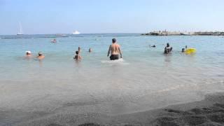 アキーラさん海水浴②モナコ公国・ビーチ,beach,Monaco