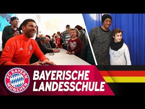 Alonso, Boateng, Hoeneß & Hopfner zu Gast in der Bayerischen Landesschule