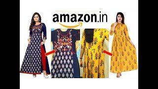 Designer Kurtis to Buy Online//Anarkali Kurti from Amazon//Online Kurti at Best Price