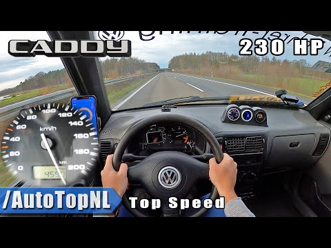 VW Caddy 1.9 TDI 230HP STAGE 2 | TOP SPEED POV On AUTOBAHN (NO SPEED LIMIT) By AutoTopNL