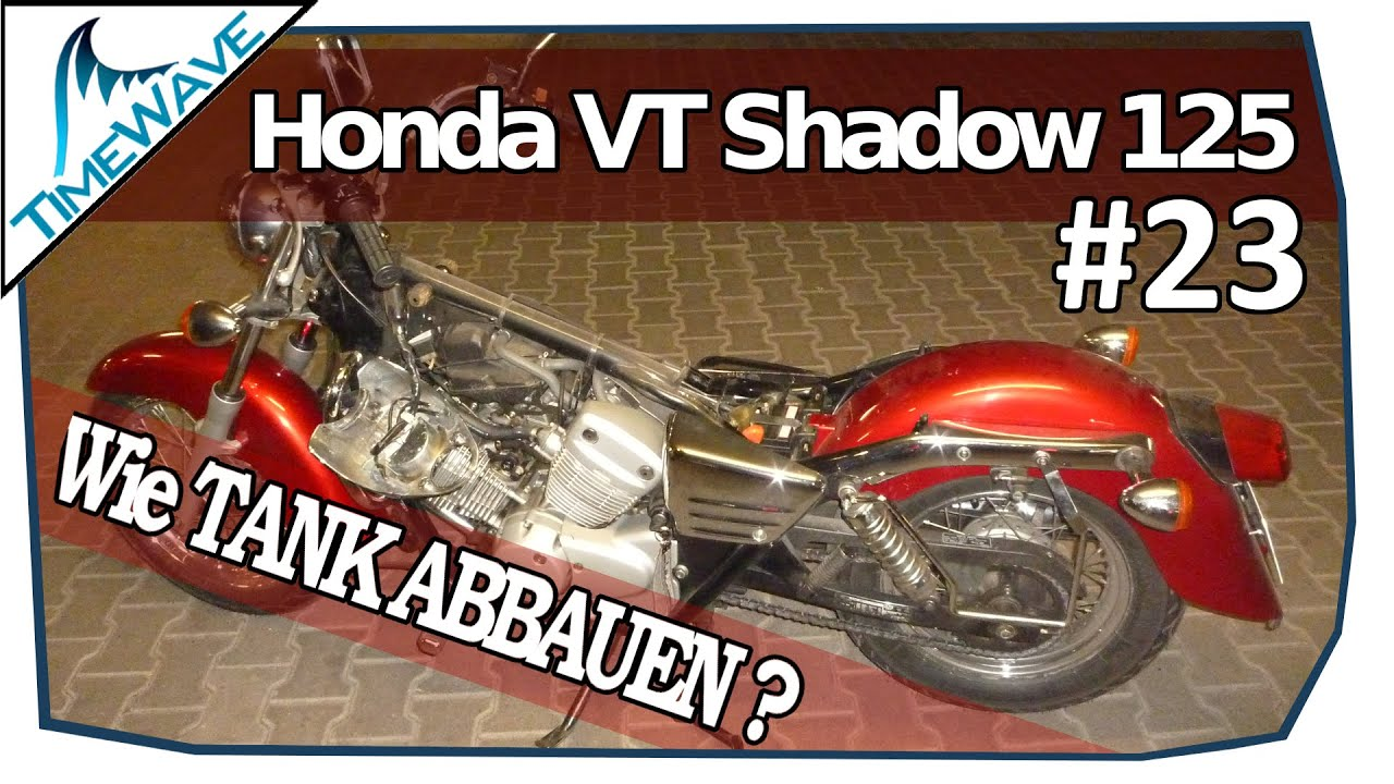 tank abbauen gas tank removal 23 honda vt shadow 125. Black Bedroom Furniture Sets. Home Design Ideas