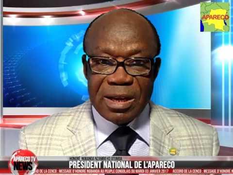 Message d'Honoré Ngbanda au peuple Congolais après la signature de  l'accord entre MP & RASSOP