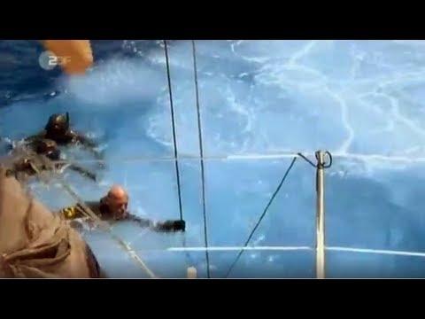 Герберт Нитш ныряет на 253 метра у острова Санторини