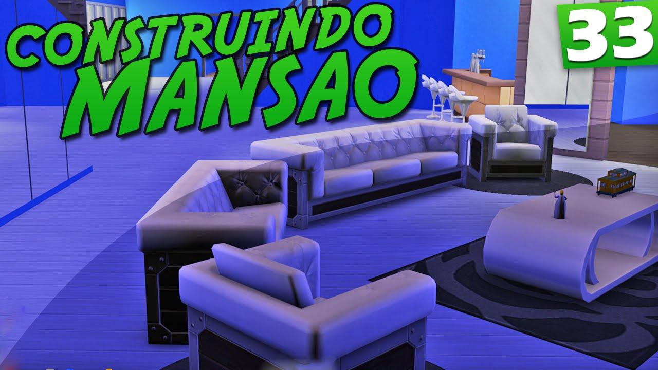The sims 4 decora o de luxo youtube for Sala de estar sims 4