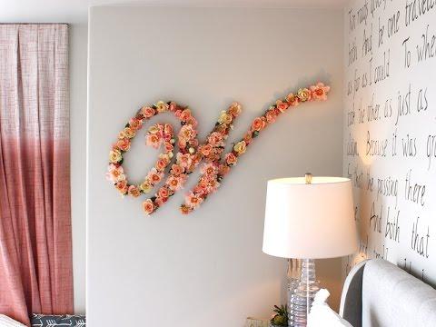 Flower Monogram Wall Letter - Blooming Floral Nursery Letter