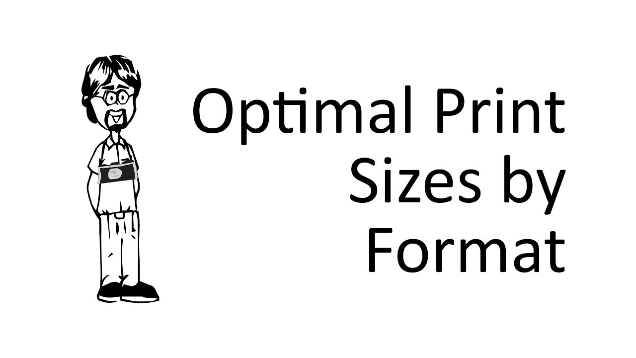 how to figure out the best print size youtube