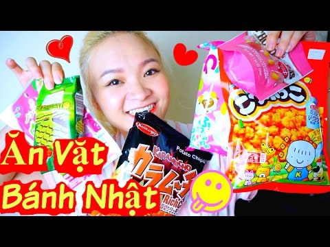 Trying Japanese Snacks and Candy | Thử Đồ  Ăn Vặt Bánh Nhật Taste Test ♡ BeeSweetiee