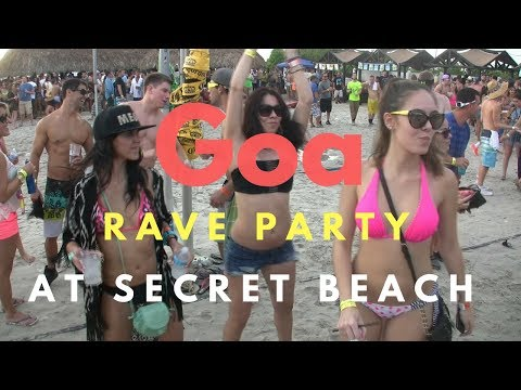 Goa Rave Party ( Trance party) At secret beach in Goa India