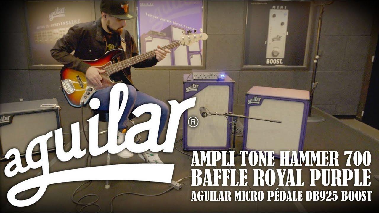 Aguilar - DEMO - Ampli Tone Hammer 700 et les baffles Royal Purple (vidéo La Boite Noire)