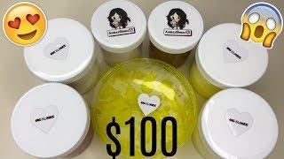 $100 FAMOUS SLIME SHOP REVIEW!! (@AUDEEZSLIMES & OGSLIMES)