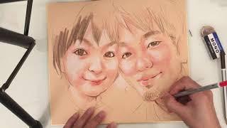 佐藤恵美の似顔絵動画日記です   ご依頼のあった写真からの似顔絵の製作...