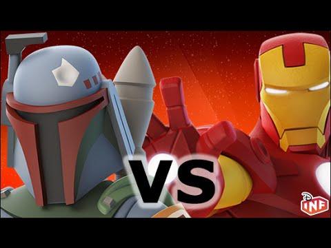 Boba Fett vs Iron Man sarlacc pit arena fight Disney Infinity toy box
