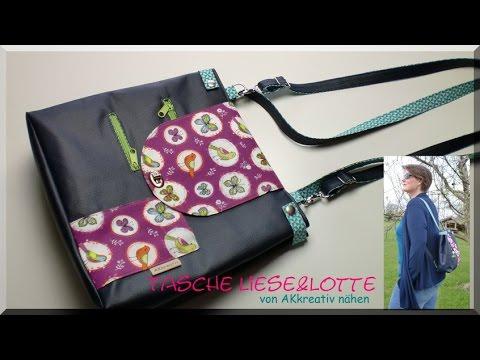 Tasche LIESE&LOTTE von AKkreativ nähen