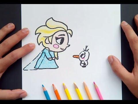 Como dibujar a Elsa paso a paso y a color - Frozen | How to draw ...