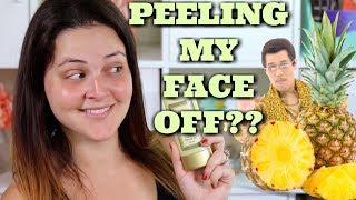 Pineapple PEELING Gel! Does it Peel Your SKIN OFF??? (SkinFood) | What The ***K??