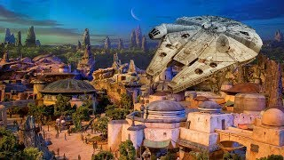 NEW Star Wars Land model UP-CLOSE at D23 Expo 2017 for Walt Disney World, Disneyland - Galaxy's Edge