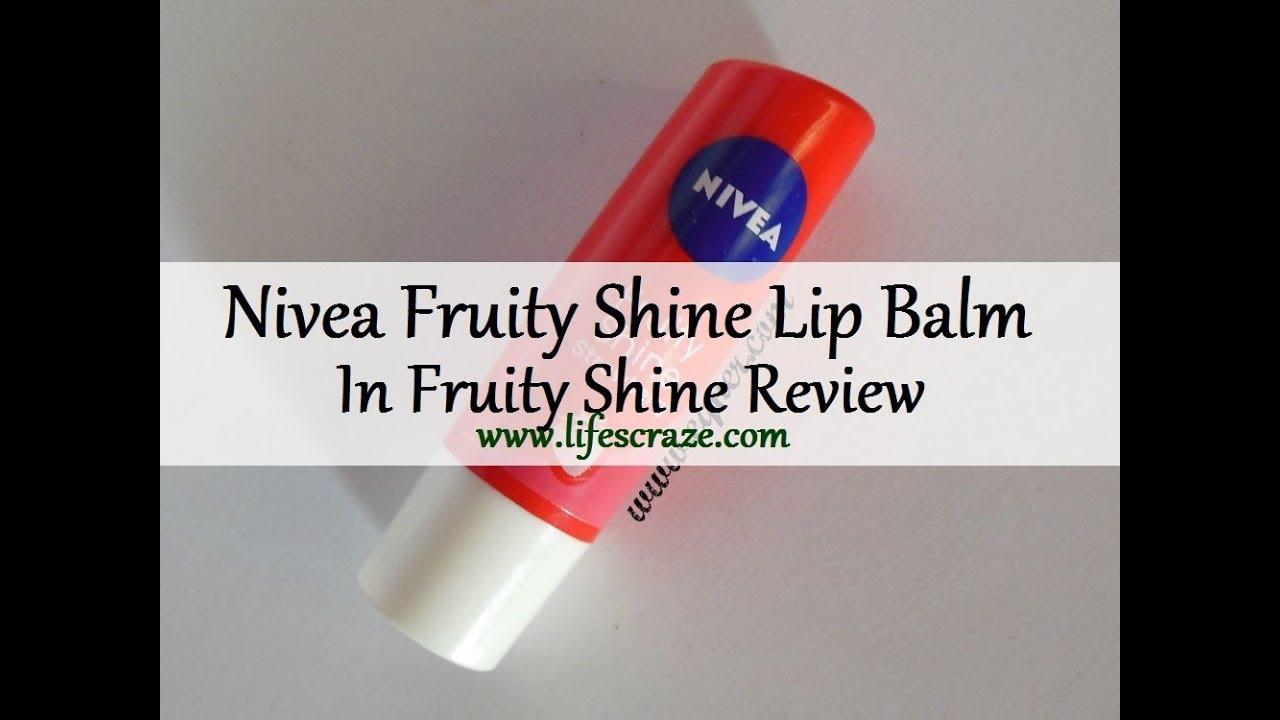 Nivea Fruity Shine Lip Balm In Strawberry Review Youtube