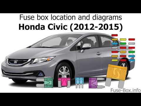 Fuse Box Location And Diagrams: Honda Civic (2012-2015)