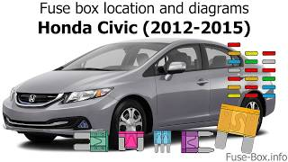 [DIAGRAM_09CH]  Fuse box location and diagrams: Honda Civic (2012-2015) - YouTube | 2013 Honda Civic Fuse Diagram |  | YouTube