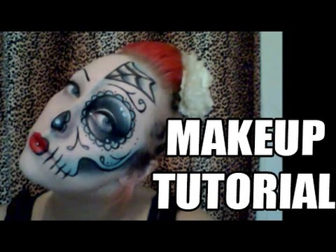 How To Do A Half Sugar Skull Makeup Look - Easy Drugstore Make Up Tutorial
