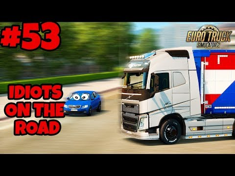 Euro Truck Simulator 2 Multiplayer: IDIOTS on the Road | Random & Funny Moments | #53