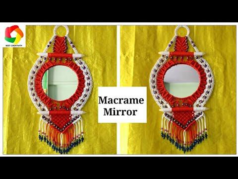 Diy Macrame Mirror New Design Youtube