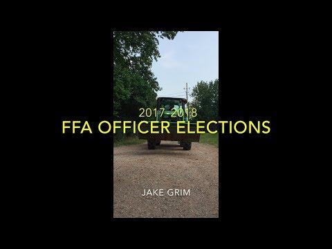 Jake Grim for Apple City Biglerville FFA President